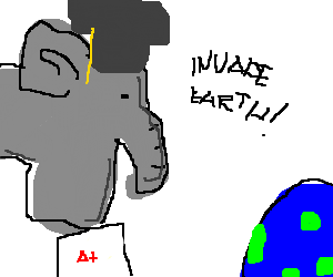 Hyper intelligent Elephants invading Earth