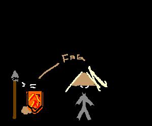 Warrior hatecrimes an Asian guy