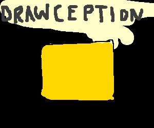 drawception screen in yellow