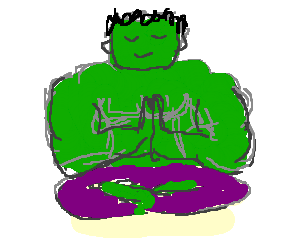 Hulk takes Yoga class to master self control
