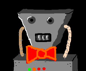 robot with a bow tie
