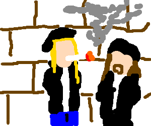 Jason Mewes smoking a phatty boom batty blunt