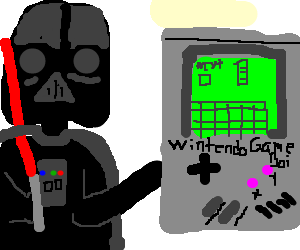 Darth Vader's giant knockoff Game Boy Classic