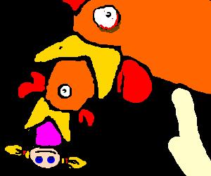 Chicken regurgitates Chicken regurgitates doll