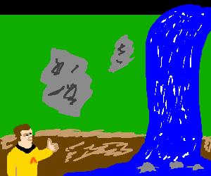 captain kirk loves waterfalls