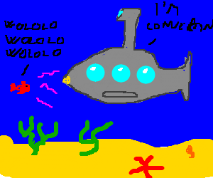 Wololoing a submarine