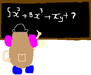 Mr. Potato head does calculus