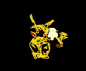 Pikachu living in a box