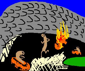 Hotdog racingdriver escapes from the big fire