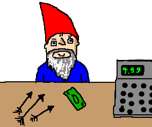 gnome buys some new arrows.