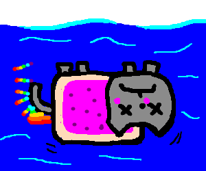 Nyan Cat underwater