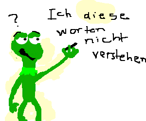 Kermit is writing things he doesn't understand