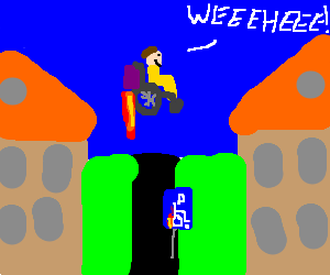 Future invalids have jetpack wheelchairs