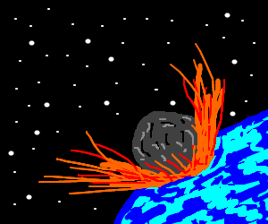 Comet colliding with the earth...Oh NO!