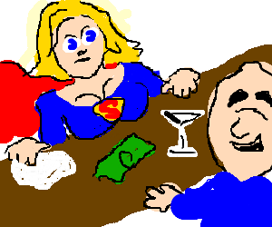 superwoman gets tips from man