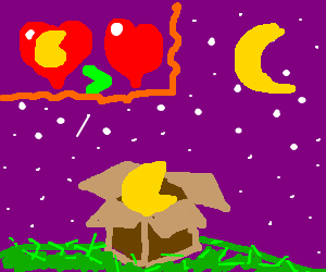 Pac mans love is greater night pac man in boxes