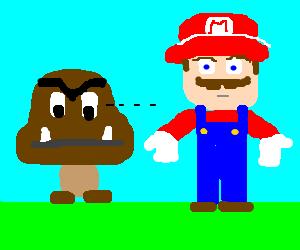 Gumba looking for Mario