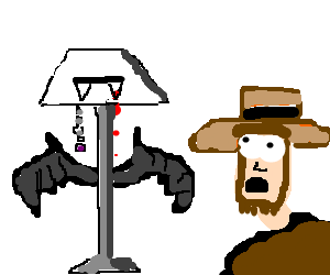 Vampire Lamp terrorizes the amish!