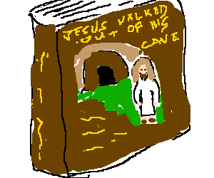 Jesus walked out of his cave: The Novel!