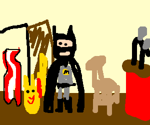 Pikachu, Batman and Bacon walk into a bar...