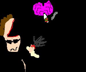 terminators brain smoking a joint