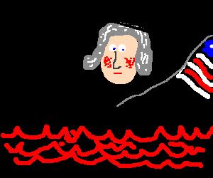 George Washington crosses the Red Sea