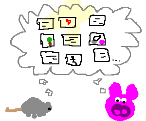 mouse and pig think about drawception