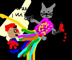 Evil and murderous NyanCat kills Mario: MamaMia!