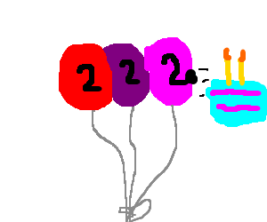 Balloons have 2nd birthday party.