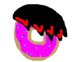 Emo Pink frosted donut