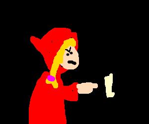 Red Riding Hood banishing dalmation.