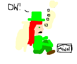 leprechaun gets high on midol, has cramps