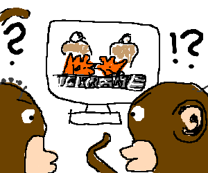 Two monkeys think Tekken sucks