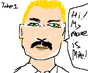 Tom Selleck plays a blond guy named Mike