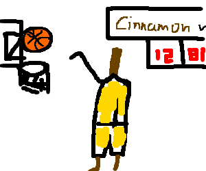 the cinnamon basket player is loosing the game