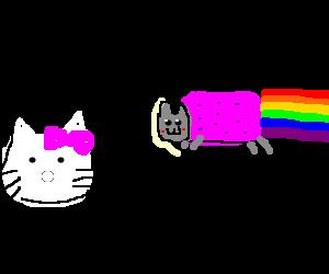 Hello Kitty makes new friend