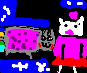 Hello Kitty meets Nyan Cat