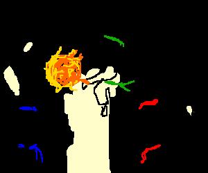 Middle karate kid use Fireblast!