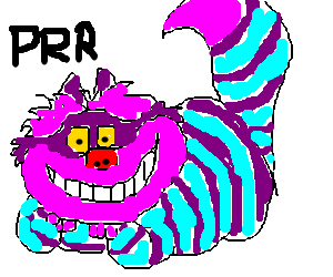 Cheshire cat purrs