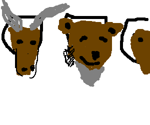 A Bear's head is too old