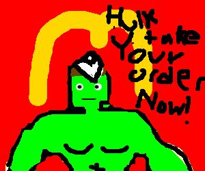 Hulk gets a minimum wage job