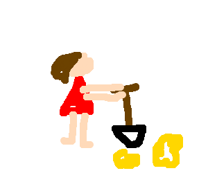 Gold digging woman