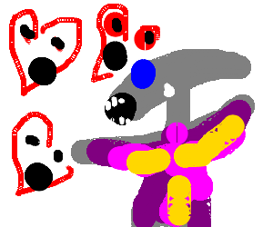 fabulous alien gets attacked by hearts