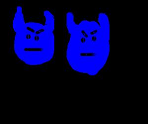 Two blue devils, Evil Plus