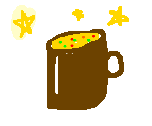 cup a soup with stars curreal
