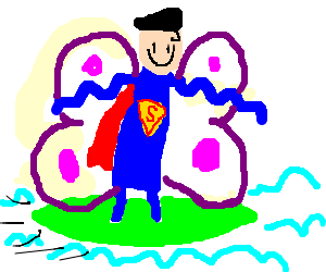 Superman butterfly surfing