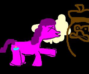Pinkie Pie laughs at brown uncle dolan