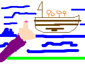 They're on a boat