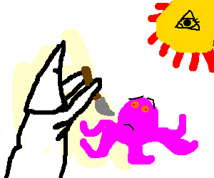 The KKK sacrifices octopus to the sun god