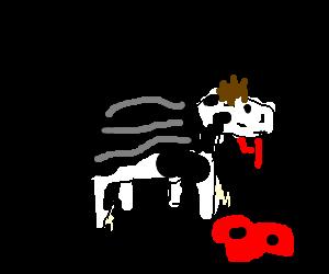 Mooooo...I am Moosferatu, the demonic Jersey Cow